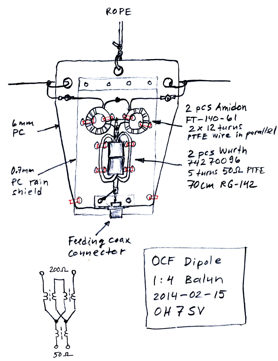 Enhanced OCF Dipole Balun (Windom balun)