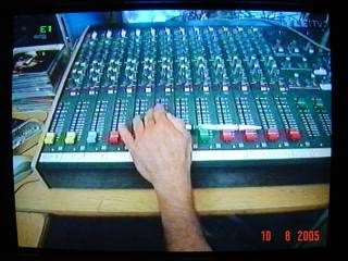 mixer in the studio of Pirate Radio 603AM